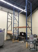 (2) Section Approx. 25' Height Pallet Racking (3 End Pieces & 2 Sets of Crossbeams)