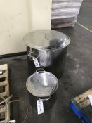 (2) Asst. Sized Stainless Steel Pots (1 is 180 Quart)