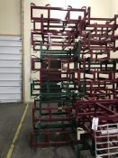 {LOT} 11 Keg & Barrel Holders - 7 Topco & 4 Western Square Keg & Barrell Holders in 1 Stack