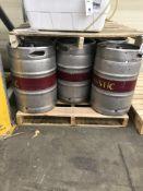 (8) 1/2 Barrel 15.5 Gallon Empty Kegs