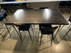 "6'L x 40""W x 42""H All Steel Frame & Top Very Heavy Tables in Kitchen Area w/Workflow (5) Matching"