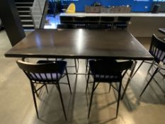"6'L x 40""W x 42""H All Steel Frame & Top Very Heavy Tables in Kitchen Area w/Workflow (4) Matching"