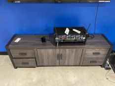 "2 Metal Base, Wood TV Stand 6' x 15.5"", 2017 W70UBC22CL"