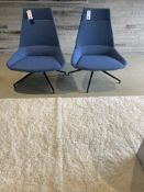 (2) Allermuir Inclass Full Upholstered 4 Leg Metal Base Swivel Reception Chairs (See Description)