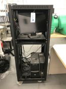 Computer Cart w/ HP Monitor, HP and Dell Cpus used to run Beta Cell Furnace