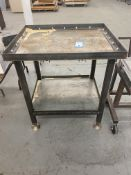 """Heavy Duty Custom Built Machinest Table 30"""" x 36"""" x 40""""H (Very Expensive to Make) w/Adjustable"""