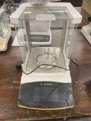 Sartorious Secura #124-1S Digital Scale w/Power Supply & Glass Enclosure