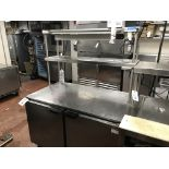 Beverage Air # UCF48A SS Sc Port. Refrigerated Base Unit w/Overshelf