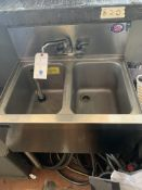 """24"""" Perlick 2 Compartment SS Stand w/Bar Sink"""