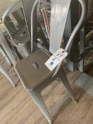 (6) Metal Stools w/ Backs