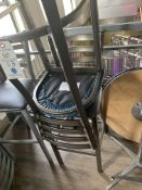 (23) Upholstered Seat and Metal Ladder Back Stools