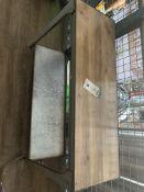 """Metal Frame Wood Top Table 42"""""""