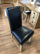 (6) Leather Scroll Back Upholstered Chairs- See Picture For Dimensions and Product Info