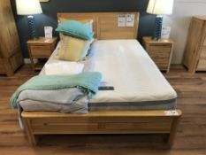 Queen Bed (Romsey) w/ Full Mattress (Marlborough Posture Pocket 4000) See Picture For Dimensions and