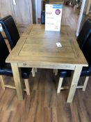 Extending Dining Table (Rushmere) See Picture For Dimensions and Product Info