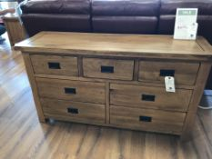 3+4 Drawer Dresser (Original Rustic) See Picture For Dimensions and Product Info