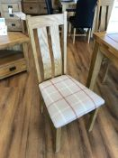 (4) Solid Hardwood Frame Chairs- Picture For Dimensions and Product Info