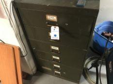 "Vintage Shaw Walker 6 Drawer File Cabinet 25"" W x 28""D x 44""H"