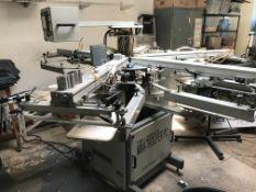 Lawson Mini Trooper PC 6 Arm, Automatic Screen Printing Press, S/N: S0781241156A