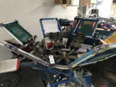 Hopkins 6-Color, 4 Arm Manual Screen Printing Carousel #MRD5200