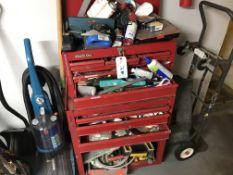 {LOT} Tools, Toolbox, Hand Truck, Vacuum & Shovel