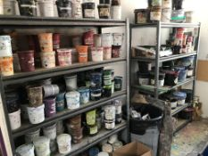 {LOT} Screen Ink & 2 Sections Of Shelving