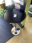 """24"""" Round 48"""" Height Cocktail Table w/ Chrome Finish Base"""