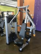 Precor Discovery Series Selectorized Line Converging Chest Press Model DSL0414 S/N BA82C31160001