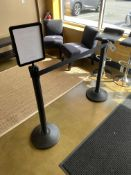 (2) Stanchions w/ Sign Display
