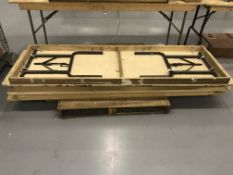 (5) 6' Wood Top Folding Tables
