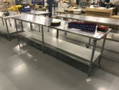 10'x2.5'x3' SS Table