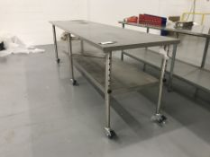 9'x2.5'x3' Adj. Height All SS Portable Table