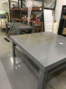 (2) Wood Tables & Wood Bin