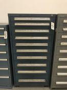 "Lista Vidmar Style 10-Drawer Cabinet w/ Contents 30""x28""x59"""