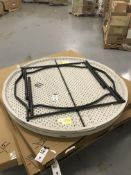 "(2) Lifetime 60"" Round Plastic Folding Tables"