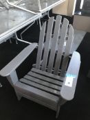 (3) Pollywood All Weather Grey Adirondack Chairs