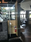 "(2) 36""W x 95.5""H x 1/2"" Thick All Glass Doors w/2 Sided SS Handles & Frame - Extreme Workmanlike"