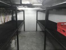 4 Sections 8' x 3' Heavy Duty Steel Storage Shelving in Walk In