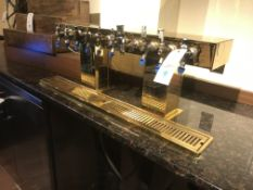 Perlick Century 10 Spigot Tarnish Free Brass Finish Bar Top Mounted Draft Beer Dispenser w/Drain &