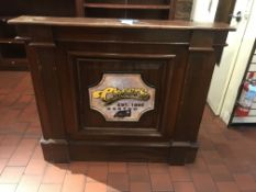 All Wood Podium w/Cheers 3D Sign