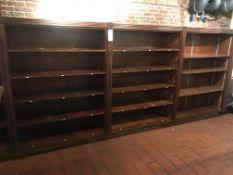 "(3) Approx. 4' x 66""H x 17""D Wood Wall Shelves w/Decorative Trim & Medallions"