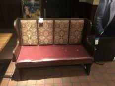 """Upholstered Seat & Back Wood Base Pew 53""""L"""