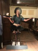 """3D Metal Base Cutout of """"Carla"""" from Cheers - 66""""H x 45""""W"""