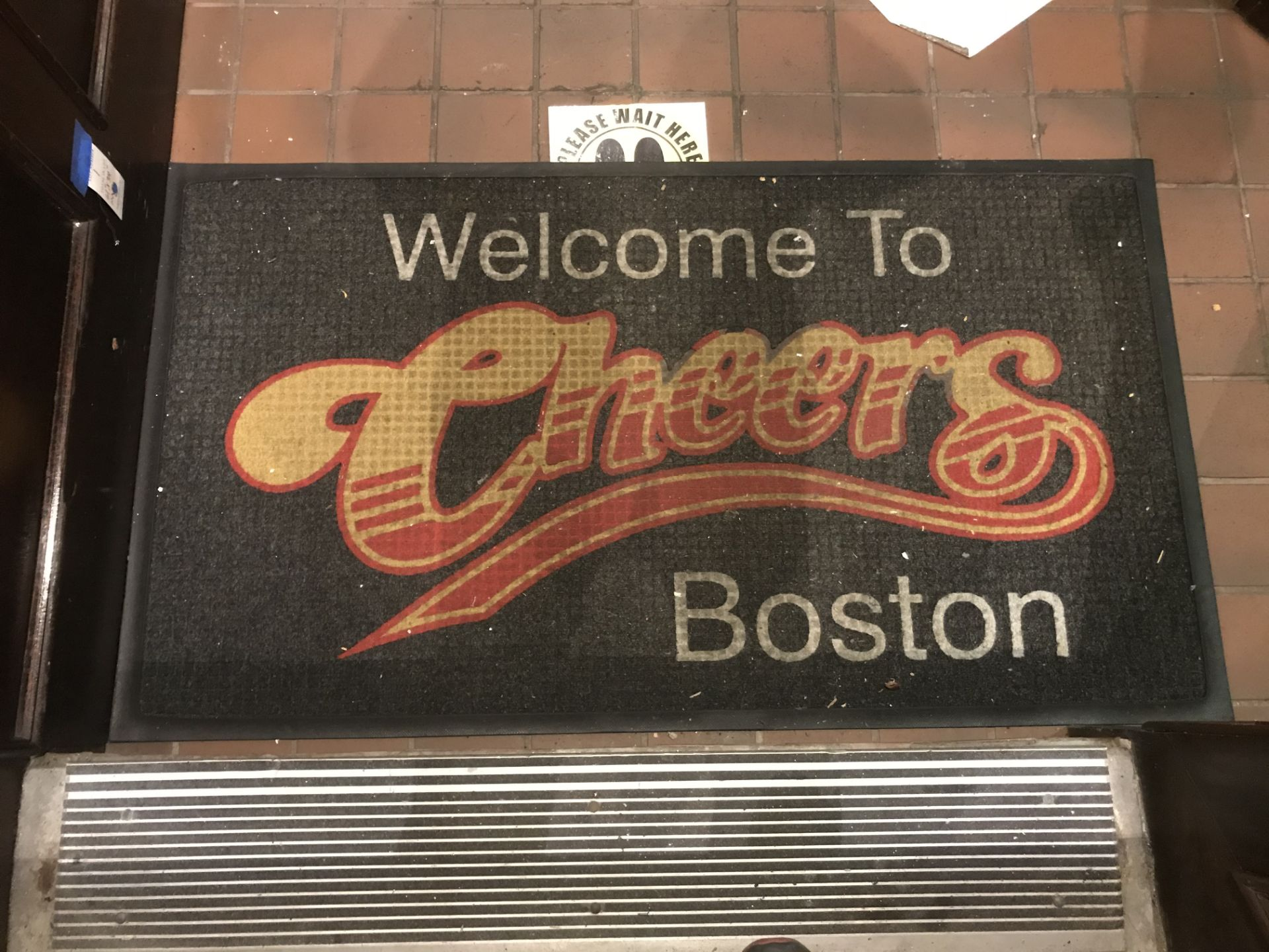 """Lot 1 - """"WELCOME TO CHEERS"""" Carpeted Rubber Floormat - 61"""" x 34"""""""