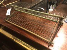 """Brass & Iron Wall Shelf 29""""W x 13""""D - Missing Decorative Nut"""