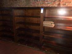 "(4) Approx. 4' x 66""H x 17""D Wood Wall Shelves w/Decorative Trim & Medallions"