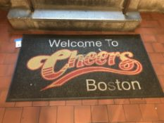 """""""WELCOME TO CHEERS"""" Carpeted Rubber Floormat - 61"""" x 34"""""""