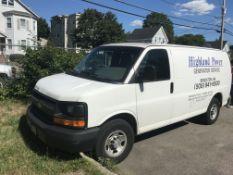 2015 Chevy Silverado Van W/ Rear Shelving, A/C, Auto Transmission, Odom: 106,603 (VIN: