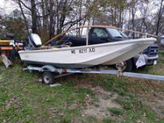 Boston Whaler 12', Evinrude 40HP Outboard & Highlander Single Axle Trailer (TRAILER HAS NO TITLE)