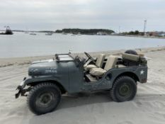 1953 Willys Army Jeep, M38A1, 4x4, 4 Cylinder Gas, 1/4 Ton, Good Glass, 2 Canopies(1 Original) Runs,
